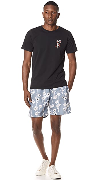 Saturdays NYC Timothy Poppy Swim Shorts