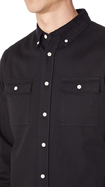 Saturdays NYC Angus Long Sleeve Shirt