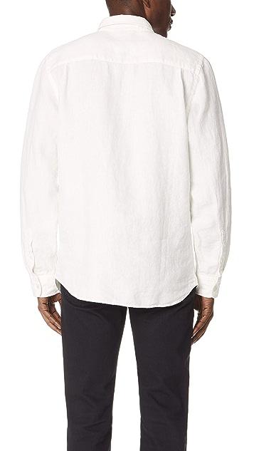 Saturdays NYC Angus Linen Long Sleeve Shirt