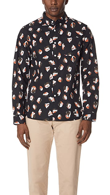 Saturdays NYC Crosby Spots Long Sleeve Shirt