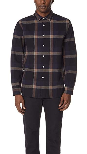 Saturdays NYC Laszlo Check Long Sleeve Shirt