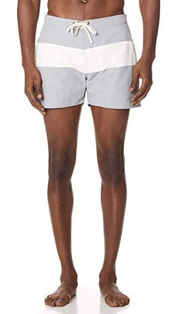 2561b57f9a Saturdays NYC Grant Board Shorts | EAST DANE