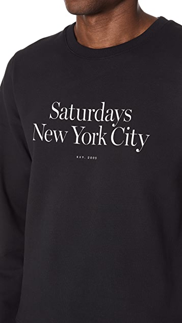 Saturdays NYC Bowery Miller Standard Sweatshirt