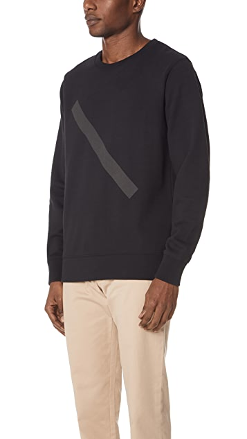 Saturdays NYC Bowery Tonal Slash Sweatshirt