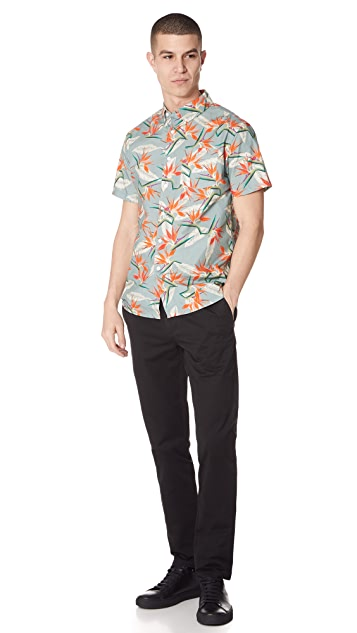 Saturdays NYC Esquina Short Sleeve Paradise Shirt