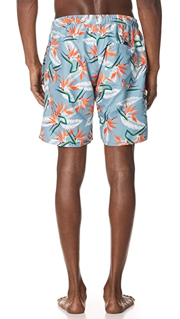 Saturdays NYC Timothy Paradise Swim Shorts