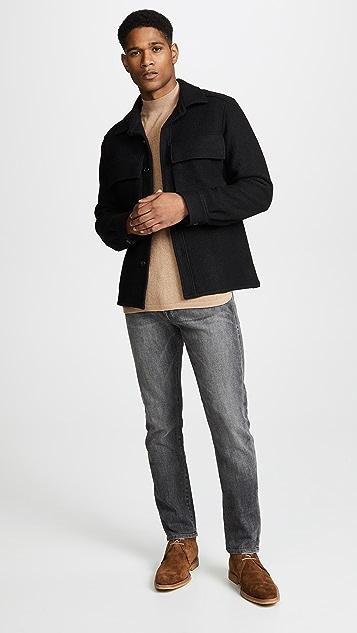 Saturdays NYC Sean Crepe Mockneck Sweater