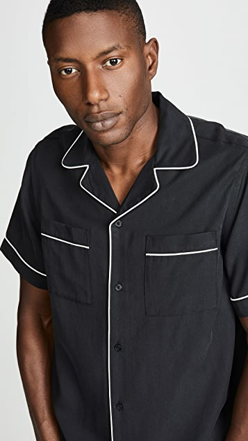 Saturdays NYC Cameron Solid Short Sleeve Shirt