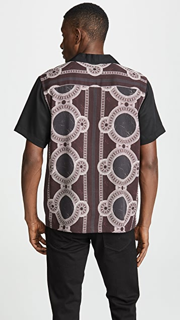 Saturdays NYC Canty Mosaic Short Sleeve Shirt