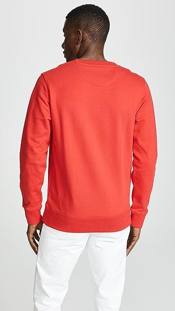 Saturdays NYC Bowery Slash Embroidered Sweatshirt