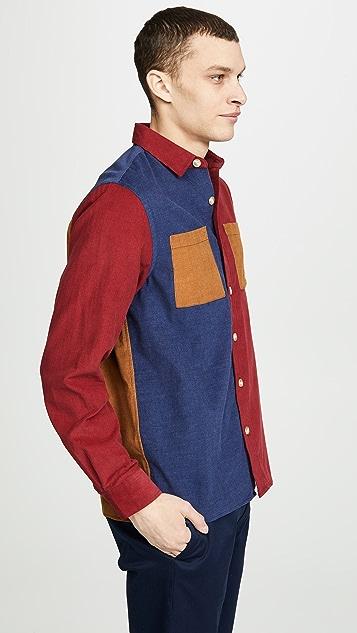 Saturdays NYC Nolan Multi Cord Shirt