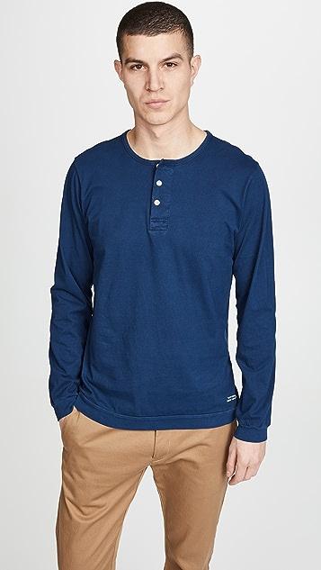 Saturdays NYC Mitch Pima Henley T-Shirt