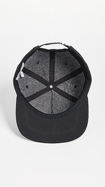 Saturdays NYC Stanley Italic Denim Snap Hat