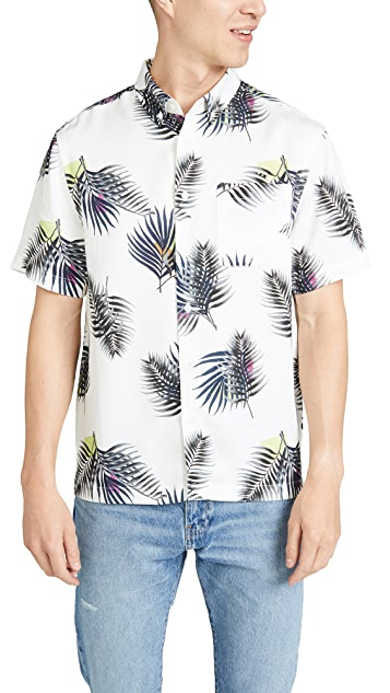 Saturdays NYC Bruce Palm Short Sleeve Shirt