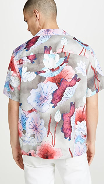 Saturdays NYC Canty Vivid Lotus Flower Shirt