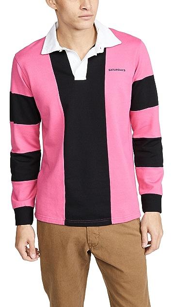 Saturdays NYC Sanders Long Sleeve Polo Shirt