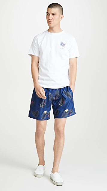 Saturdays NYC Timothy Peak Palm Swim Shorts