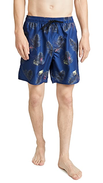 Saturdays NYC Timothy Peak Palm Swim Shorts