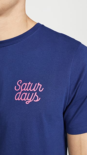 Saturdays NYC Script Short Sleeve Logo Tee