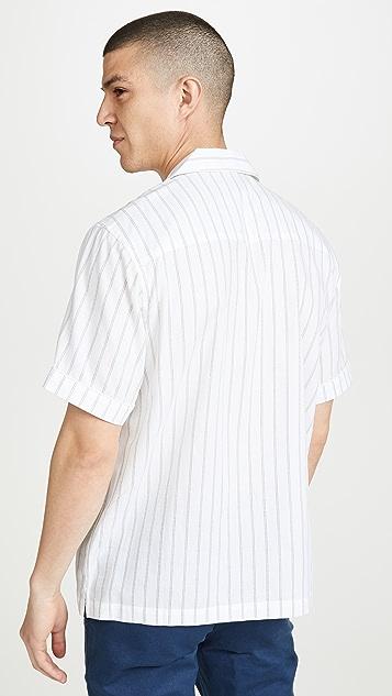 Saturdays NYC Cameron Stripe Short Sleeve Shirt