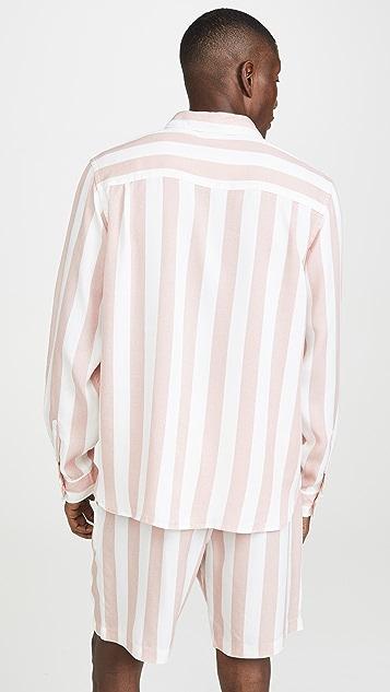 Saturdays NYC Perry Jumbo Stripe Long Sleeve Shirt