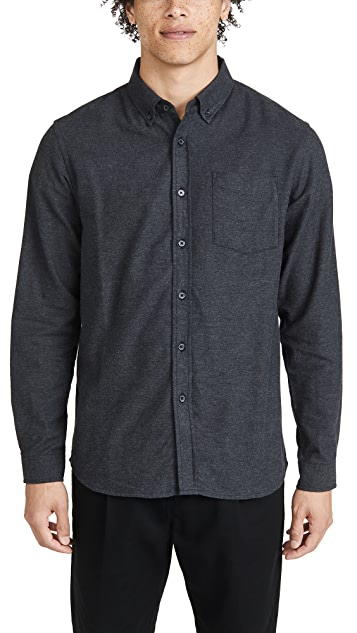 Saturdays NYC Crosby Flannel Long Sleeve Shirt