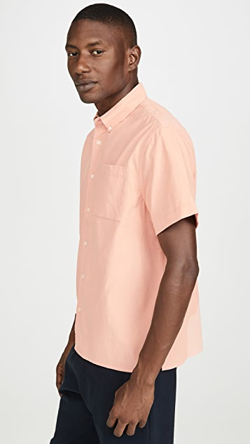 Saturdays NYC Bruce Cord Short Sleeve Shirt