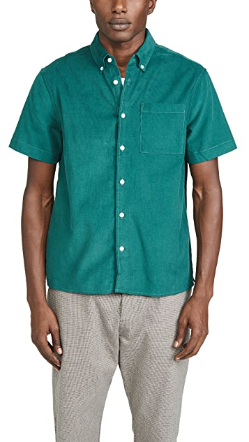 Saturdays NYC Bruce Cord Short Sleeve Shirt