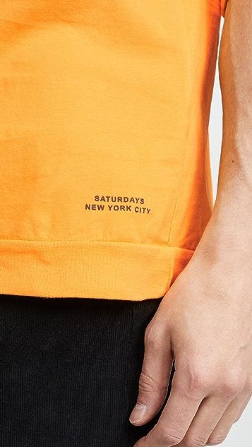 Saturdays NYC Mitch Pima Long Sleeve Henley