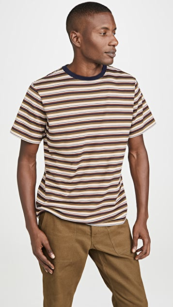 Saturdays NYC Brandon Short Sleeve Striped Tee
