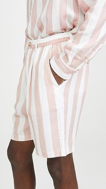 Saturdays NYC Keigo Jumbo Stripe Shorts