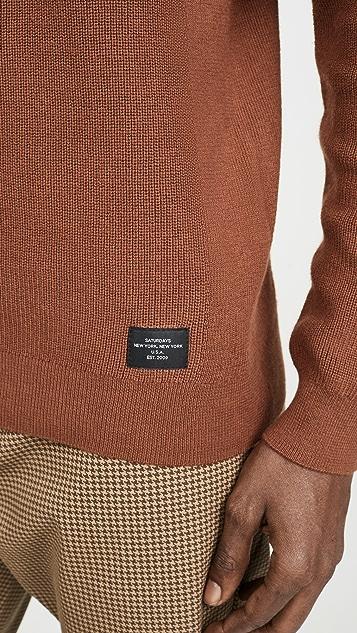 Saturdays NYC Everyday Classic Silk Cashmere Sweater