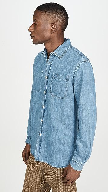 Saturdays NYC Kenmare Denim Long Sleeve Shirt