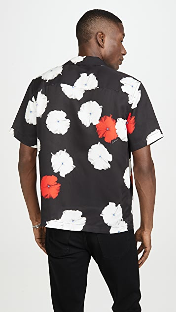 Saturdays NYC Canty Moon Flower Short Sleeve Shirt