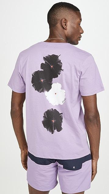Saturdays NYC Moonflower Chest Logo Short Sleeve Tee