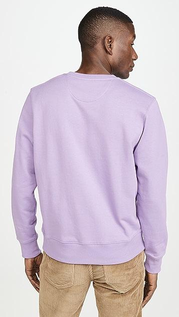 Saturdays NYC Bowery Slash Embroidered Crew Neck Sweatshirt