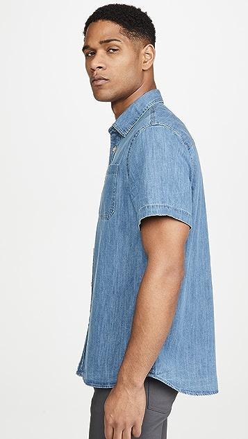 Saturdays NYC Centre Short Sleeve Denim Shirt