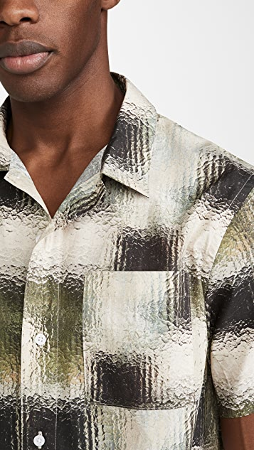 Saturdays NYC Alpons Glass Short Sleeve Shirt