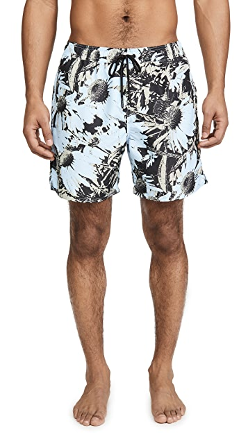 Saturdays NYC Timothy Daisy Print Swim Shorts