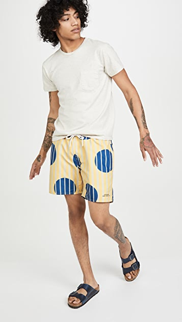 Saturdays NYC Timothy Big Dot Print Swim Shorts