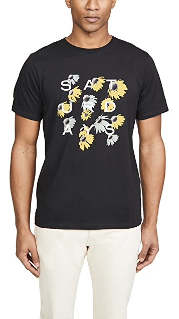 Saturdays NYC Daisy Grid T-Shirt