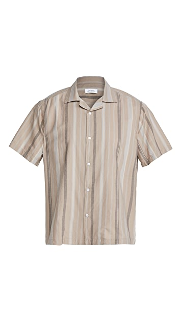 Saturdays NYC Canty Bay Striped Short Sleeve Shirt