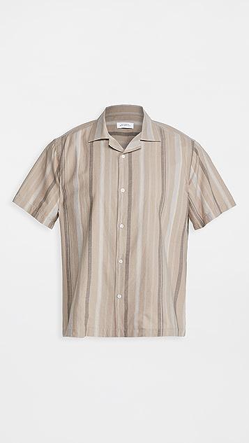 Saturdays NYC Canty Bay Striped Short Sleeve Shirt