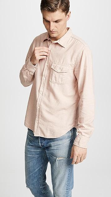 Save Khaki Oatmeal Flannel Work Shirt