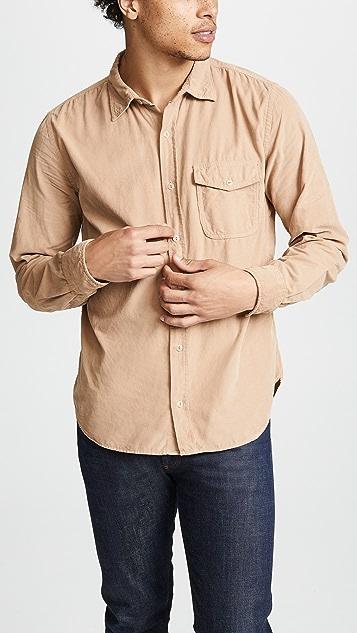 Save Khaki Baby Cord Work Shirt