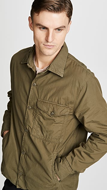 Save Khaki Supima Fleece Shirt Jacket