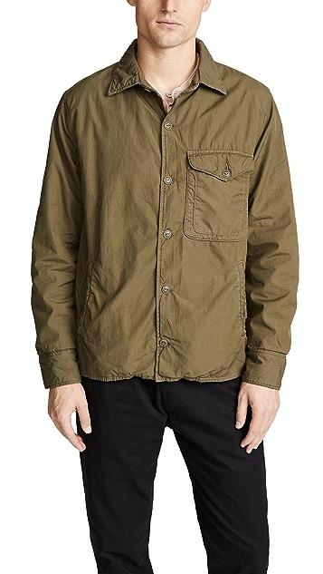 Save Khaki Supima Fleece Shirt Jacket