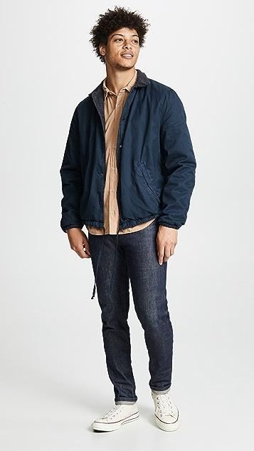 Save Khaki Berber Lined Warm Up Jacket