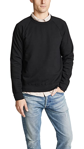 Save Khaki Fleece Crew Sweatshirt