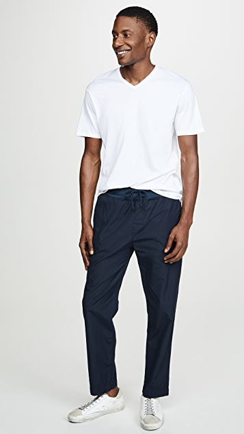 Save Khaki Poplin Cozy Pants
